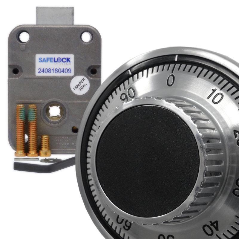 LA GARD 3390 mechanical combination lock and 1777 satin chrome dial