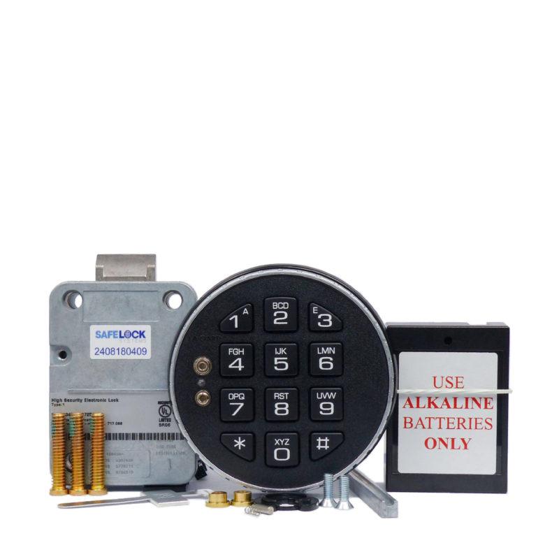 LA GARD latchbolt lock and 3035 keypad with small battery box