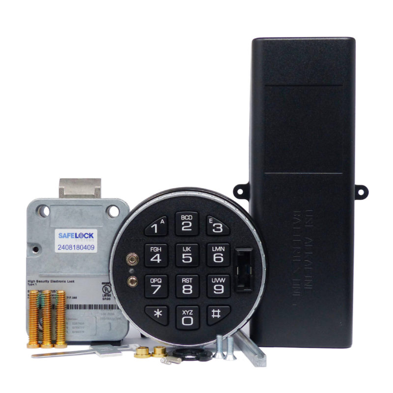 LA GARD latchbolt lock and 3125 keypad with large battery box