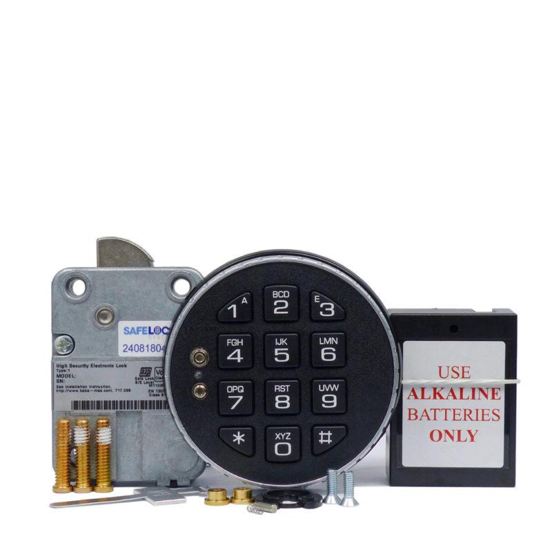 LA GARD swingbolt lock and 3035 keypad with small battery box