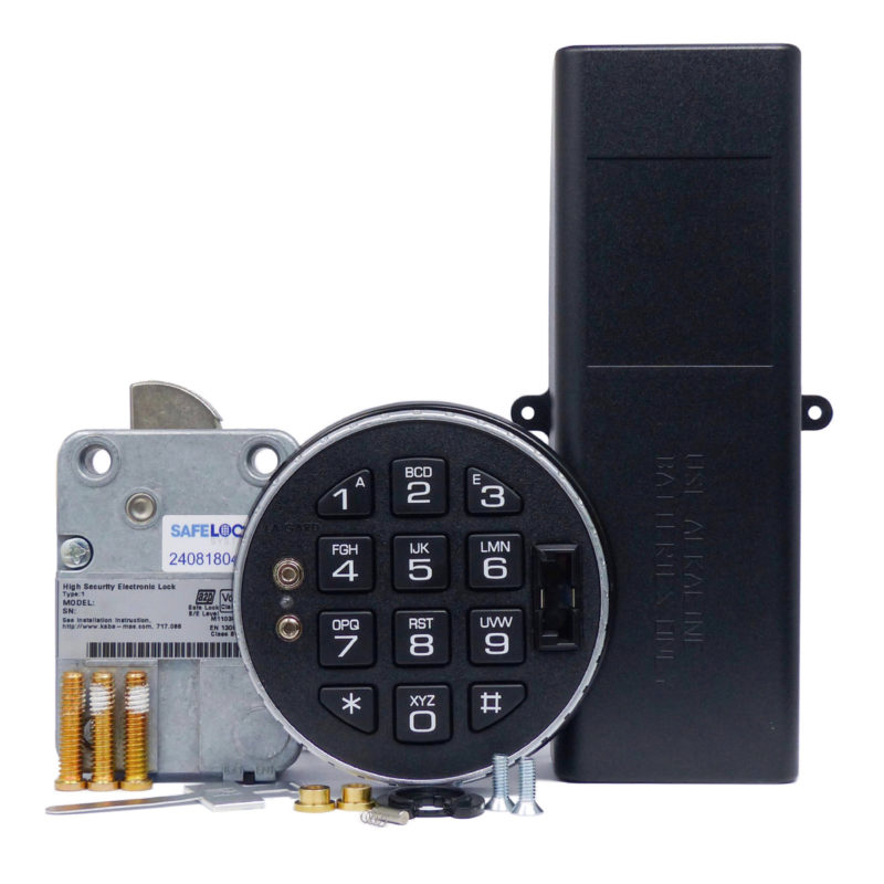 LA GARD swingbolt lock and 3125 keypad with large battery box
