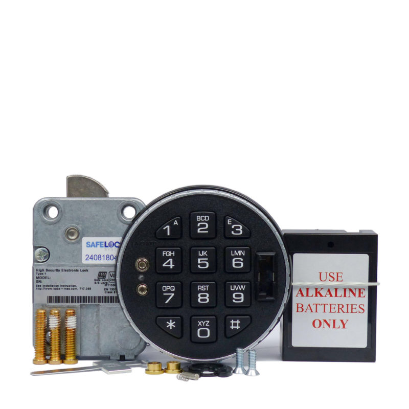 LA GARD swingbolt lock and 3125 keypad with small battery box