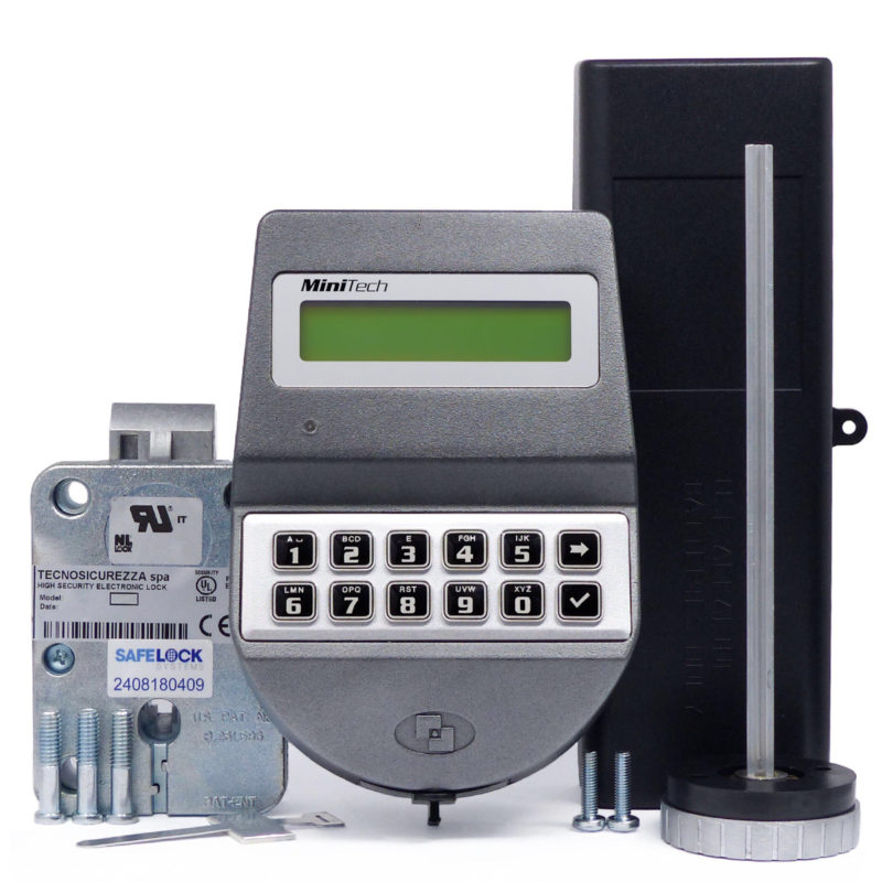 MiniTech keypad and latchbolt lock