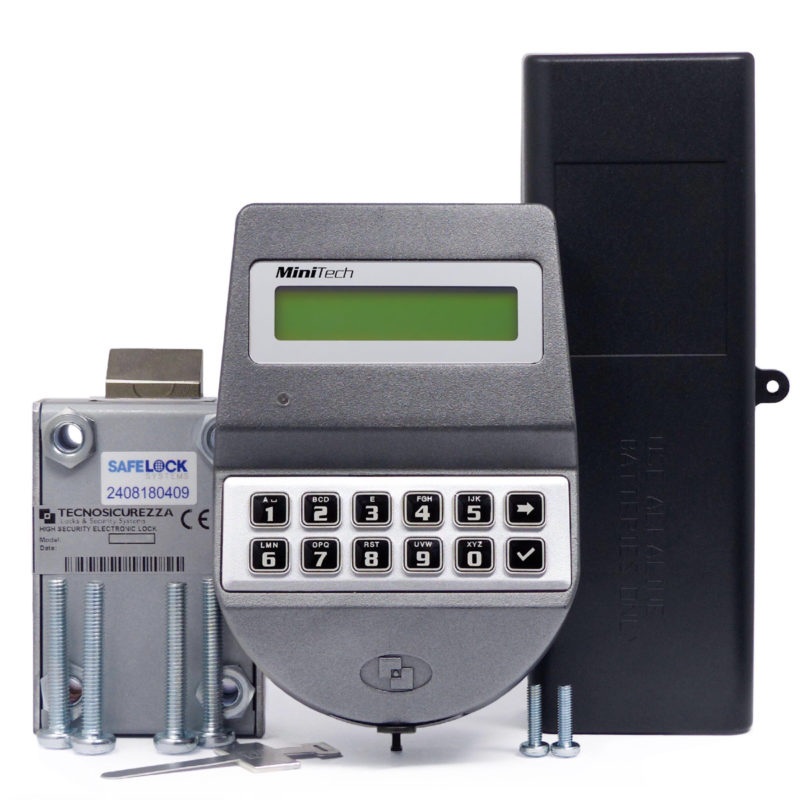 MiniTech keypad and motor-latchbolt lock