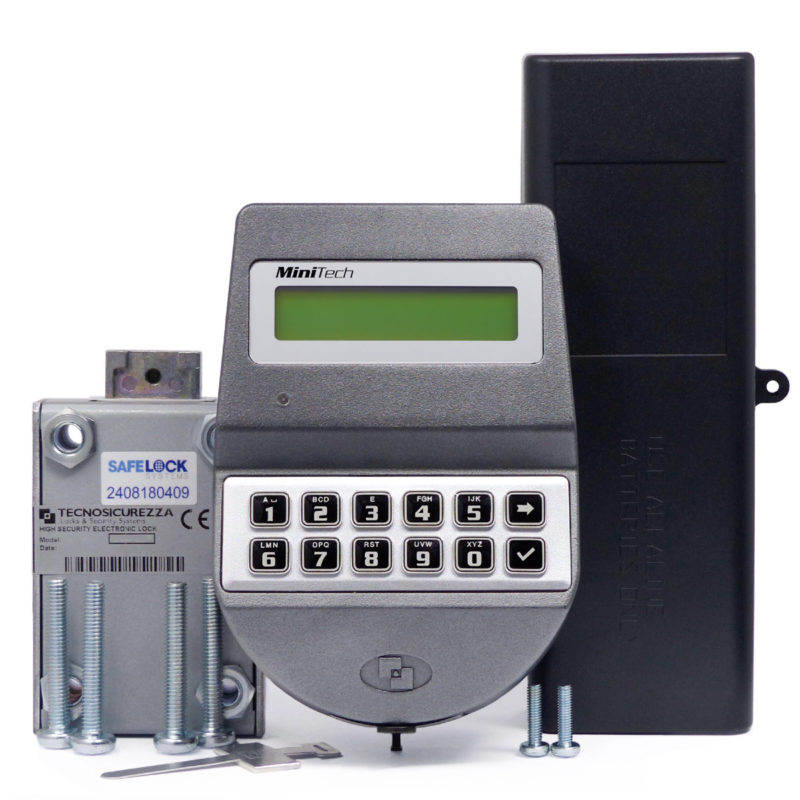 MiniTech keypad and motorbolt lock