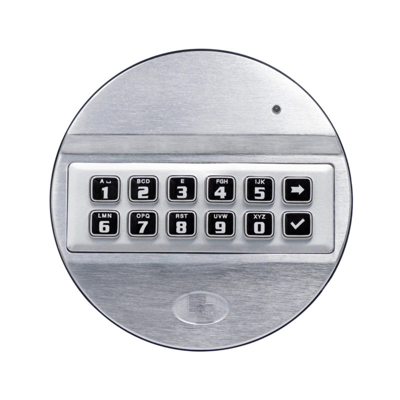 Pulse keypad with backplate