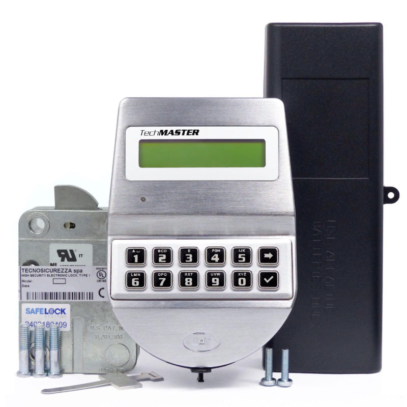 TechMaster keypad and swingbolt lock