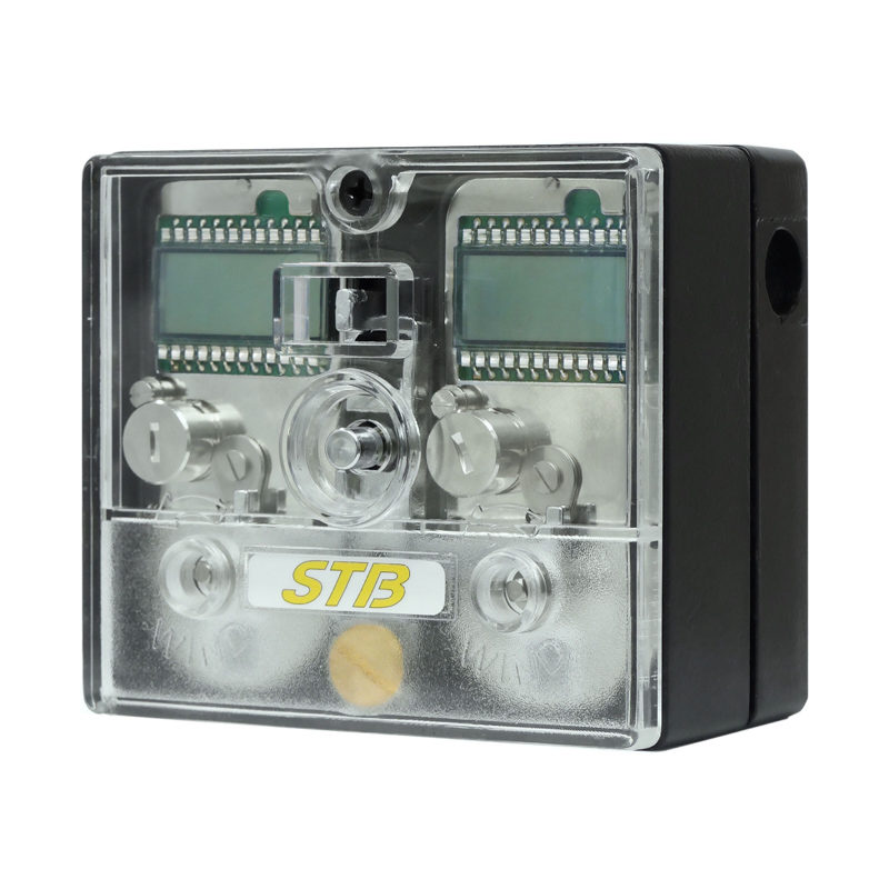 STB timelock with 2 digital movements