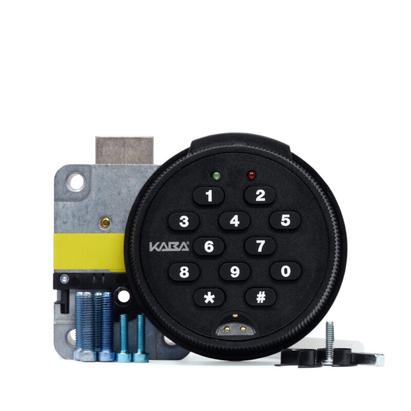 Auditcon round keypad and deadbolt lock